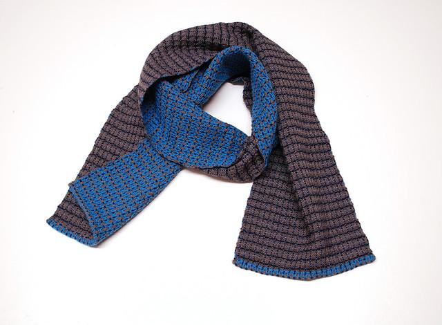 Karenina's reversible cerulean & gray scarf