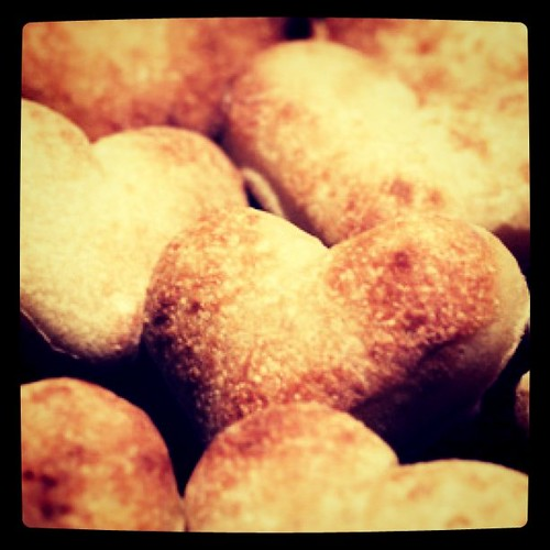 Heart dough balls