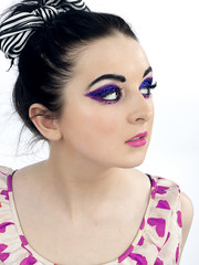 Make-up 1 (neeevie) Tags: pink portrait beauty fashion studio purple bright makeup colourful