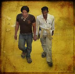 Golden Hands (designldg) Tags: amber atmosphere uttarpradesh india indiasong people shanti square friends friendship ganga ganges garment ghats gold human kashi man colours varanasi benaras benares soul yellow
