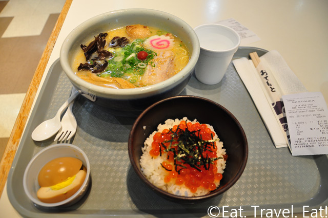 Santouka Ramen Costa Mesa Set B- Large Ship Ramen with Salmon Roe Rice