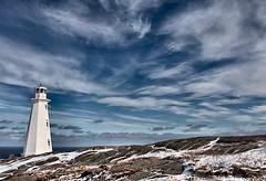 Winter Sky (Karen_Chappell) Tags: ocean blue winter sky lighthouse white seascape canada clouds newfoundland landscape geotagged scenery scenic atlantic nfld eastcoast capespear wbnawcnnl geo:lat=4752111165884802 geo:lon=5262238358407592