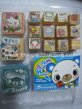 cute stamp con dấu mực