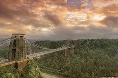 Clifton Suspension bridge (2) (Hadi Al-Sinan Photography) Tags: clifton suspension bridge canon 5d mark ii best shot 2470mm f28 l usm bristol south west england uk sunset hadi alsinan alssinan photography somerset suspended