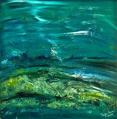 """""""Unterwasserwelt"""" Acryl auf Leinwand 50 x 50 cm (colore2010) Tags: meer blau acryl abstrakt malerei leinwand unterwasserwelt"""