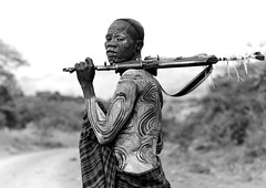 Surma warrior with Kalashnikov - Omo Ethiopia (Eric Lafforgue) Tags: africa people blackandwhite man male horizontal outside outdoors person gun fighter artistic decorative decoration weapon warrior omovalley warriors bodypainting fighters ethiopia tribe surma personne humanbeing homme contemplation artistique tribu dehors omo eastafrica suri abyssinia 816 arme combattant combattants exterieur lookingatcamera traditionalclothes blackandwhitepicture waistup guerrier guerriers abyssinie vueexterieure peinturecorporelle kalachnikov afriquedelest surmatribe alataille etrehumain habittraditionnel tulgit suripeople valleedelomo peuplenomade regardantlobjectif turgit peoplesoftheomovalley surmapeople peuplesdelavalleedelomo villageofturgit villagedeturgit tribudessuri suritribe tribudessurma peuplesuri peuplesurma cadragealataille armeautomatique ak47firearm