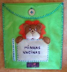 Estojo para carteira de vacinação (edilmarasantiago) Tags: baby handmade artesanato artesanal craft felt bebê neném feltro carteirinha vacina fieltro gestante vacinação matrnidade carteiradevacinação