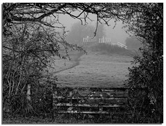 Swing bridge 155 (lovestruck.) Tags: uk bridge trees winter england mist cold ice nature weather geotagged countryside gate frost view path walk framed hill software nik wiltshire swingbridge 2010 seend challengeyouwinner silverefexpro seendcleeve geo:lat=51348892303890096 geo:lon=2114165537664803