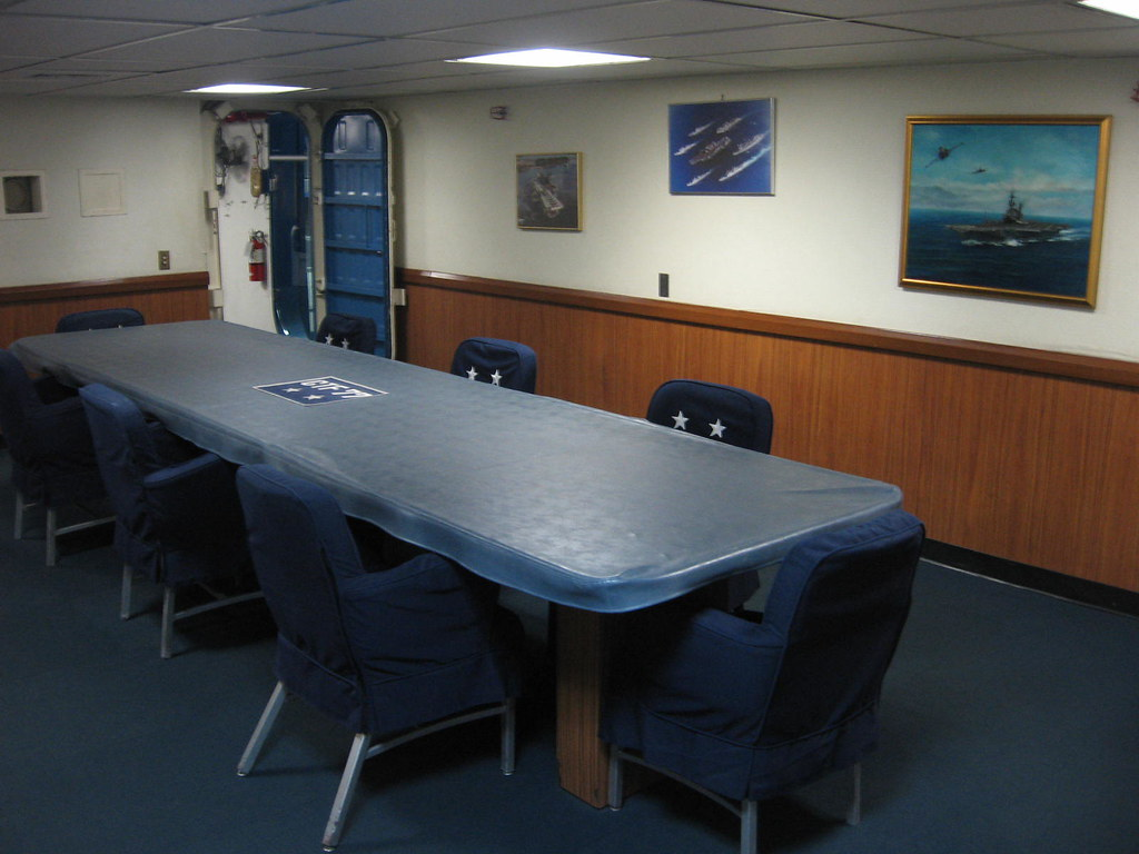 Admiral's conference room onboard USS MIDWAY MUSEUM 2-22-11