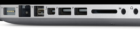 Ports for the MacBook Pro notebook