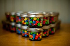 M&M's wedding favors