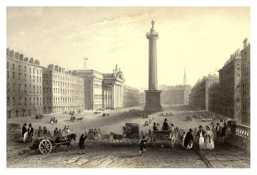 023-Calle Sackeville-Dublin-The scenery and antiquities of Ireland -Vol II-1842-W. H. Bartlett