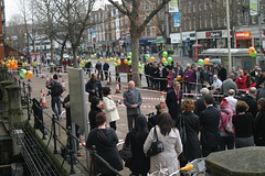 Crowds gathering (Jeff And) Tags: crowd ealing shopmobility johngallagher ealingtownhall johnsergeant