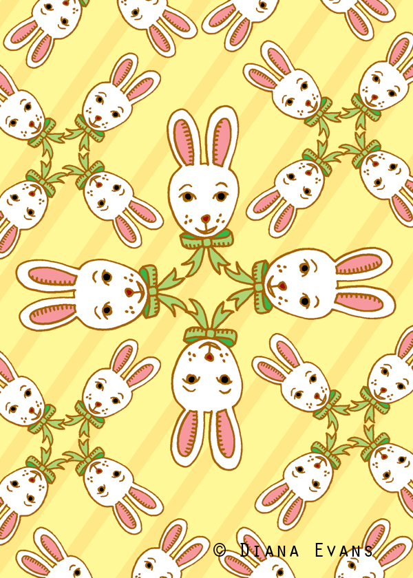 colour 5 x 7 easter bunny fabric1