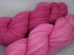 Its Pink! BFL Aran - Your Choice - Dark or Light