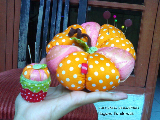 pumpkins pincushion