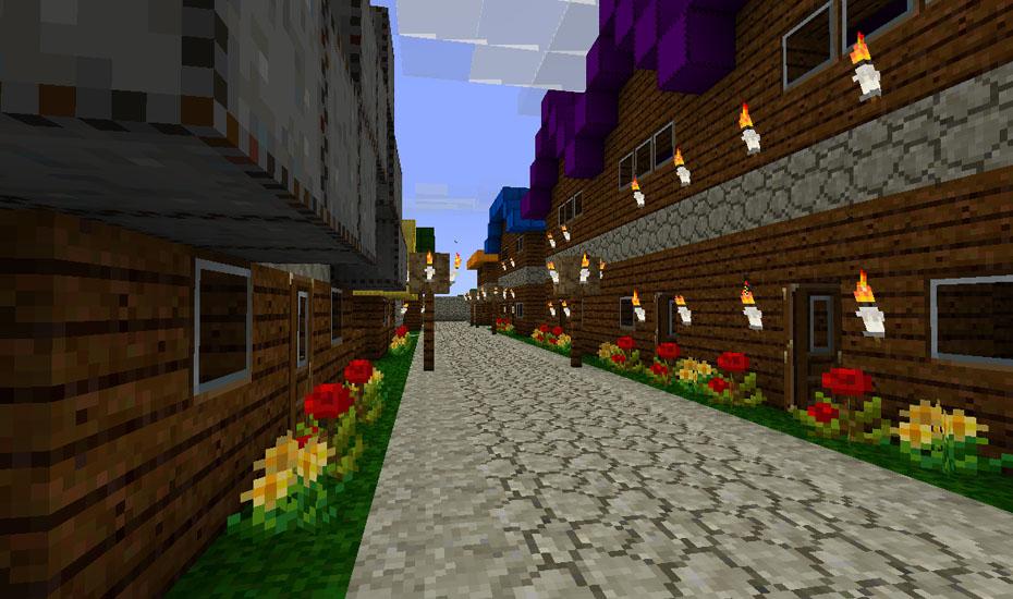 Minecraft - Town Street