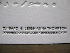 Moss + Isaac Letterpress Cards - Text Closeup