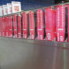 Noodle Box (Foot Slogger) Tags: red shop pattern counter stack boxes takeaway prawncrackers noodlebox