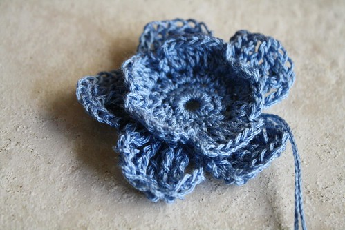 Crocheted flower :D