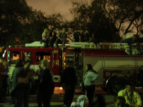Guests on the fire truck