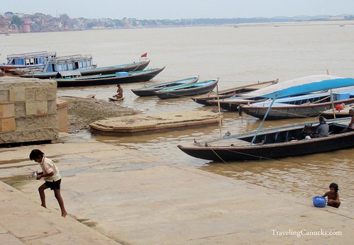 Boats on the River Ganges, Varanasi