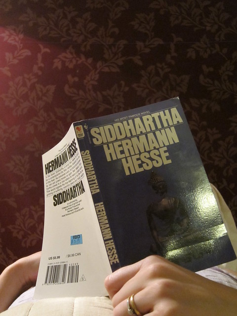 Sarah reading Siddhartha