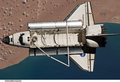 Space Shuttle Discovery Over Earth (NASA, International Space Station, 03/07/11) (NASA's Marshall Space Flight Center) Tags: nasa discovery spaceshuttle stationscience crewearthobservation stationresearch
