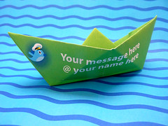 Paper boat with a message by net_efekt, on Flickr