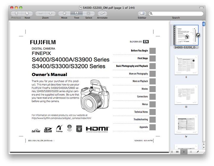 Fuji S3200 Manual