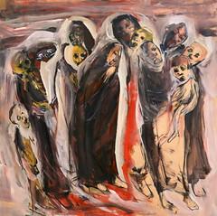 Jorge Rando África óleo sobre tabla   122x122 cm 1999 (arteneoexpresionista) Tags: rando jorge áfrica