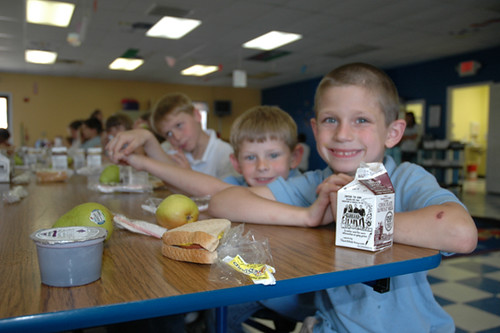 Delaware youth enjoy fresh fruits during lunch at a Summer Food Service Program site in 2010.  The Food Bank of Delaware dramatically increased participation through hard work and creativity.