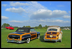 Town and Country duo (sjb4photos) Tags: woody chrysler woodie chryslertowncountry autoglamma 1948chrysler 1949chrysler 2010glenmoorgathering