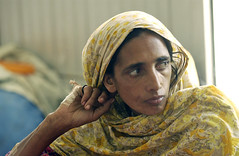 Portrait of Earthquake Victim in Pakistan