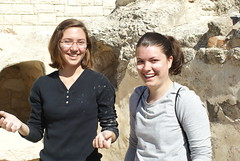 Aly Zimmerman and Jamila Witmer find themselves a bit dusty after exploring ancient tombs.