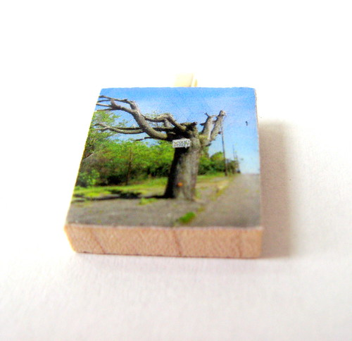 Centralia Tree Upcycled Scrabble Tile Pendant