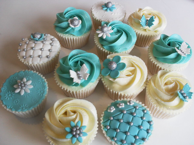 Tiffany and co inspired cupcakes..