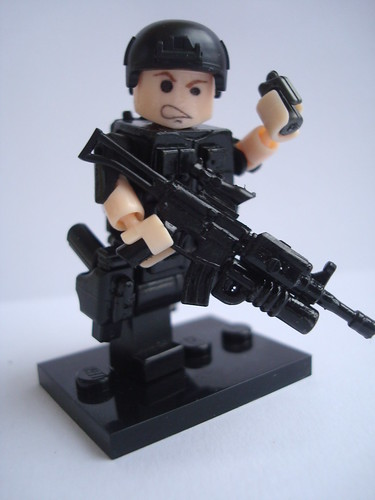 Custom minifig S.W.A.T. Movable minifig