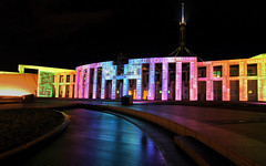 Enlighten - part 3 (screenstreet) Tags: longexposure nightphotography parliamenthouse enlighten canberrafestival electriccanvas