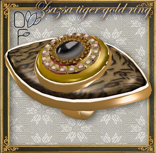 ZSAZSA-tiger-gold-ring