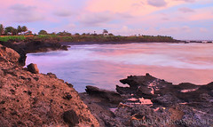 Nature color can speak to the soul in a thousand different ways (Maaar) Tags: longexposure sunset seascape landscape pinksky img3760 mengeningbeach romanticcolorofsunset