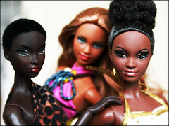 Different shades of brown (fabiopoptrash) Tags: barbie basics nadja alvinailey fashionroyalty fabiopoptrash mbili urbanoutfitting