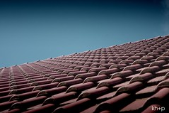 Pantiles (kh+p photography) Tags: blue roof red sky tile endless pantiles