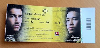 Ticket: Borussia Dortmund vs. FSV Mainz
