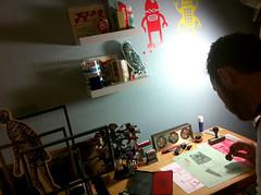 SELF PORTRAIT AT MY HOME STUDIO (MATTY) Tags: selfportrait art me studio photo working picture stamping stamper mattcipov artsprojekt