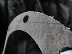 Johns-Manville Asbestos Gasket (Asbestorama) Tags: jm fibers gasket asbestos johnsmanville