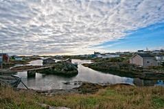 Isle aux Morts (PRS Images) Tags: sky reflection newfoundland fishing village harbour colorefex isleauxmorts nikond90