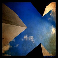 (sediama (break)) Tags: blue light shadow sky berlin monument germany concrete deutschland licht pentax hauptstadt himmel textures blau schatten beton yadvashem denkmal petereisenman holocaustmahnmal stelen betonquader k20d sediama bimgp8747 28mioeuro degussaag 2711concreteslabs 2711stelen
