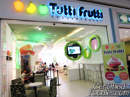 Tutti Frutti Frozen Yogurt at SM San Lazaro, Manila - CertifiedFoodies.com