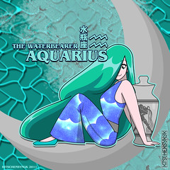 Aquarius 2 (Kitschensyngk) Tags: girls signs photoshop vase zodiac aquarius vector inkscape waterbearer characterart sketchless